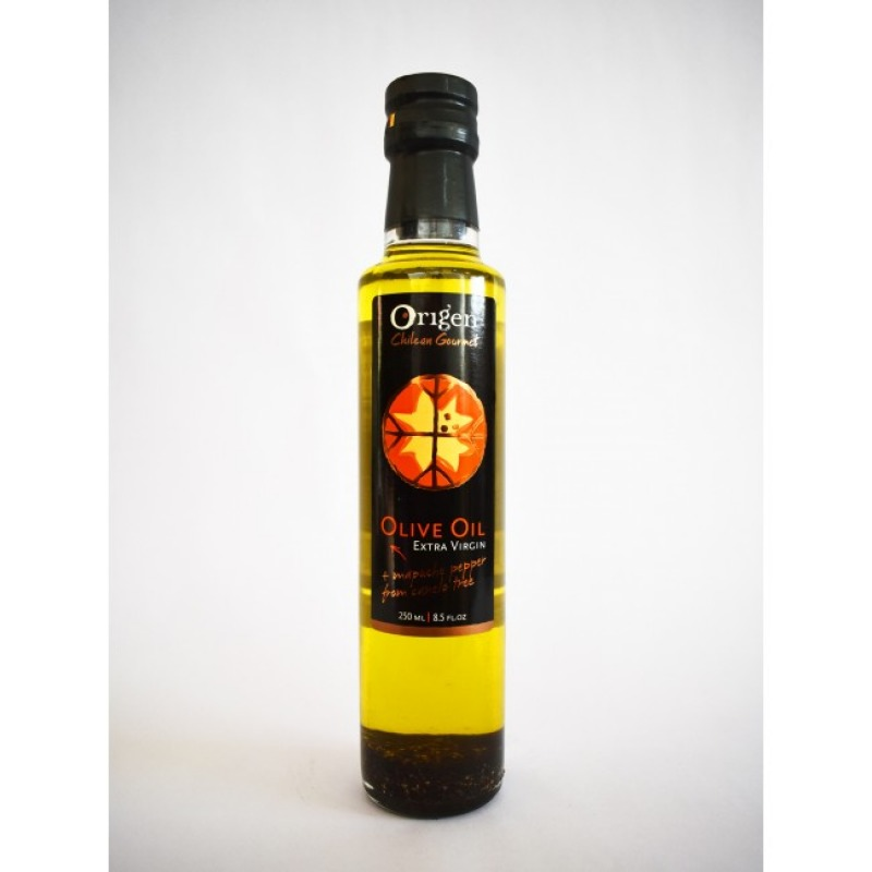 Origen Chilean Gourmet Aceite Oliva con Pimienta de Canelo 250 ml